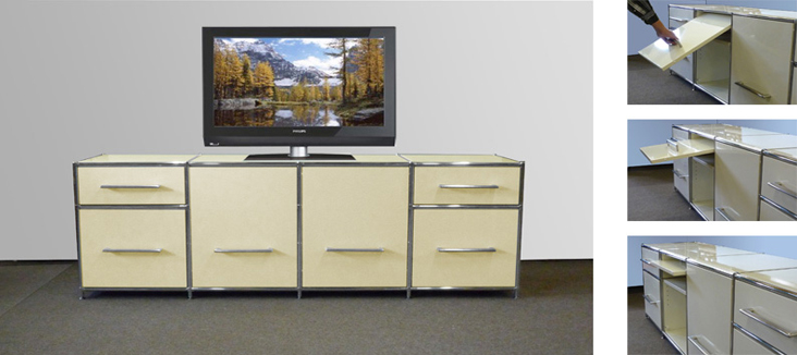 m beldesign hifi und tv m bel eiche wei pictures to pin on pinterest. Black Bedroom Furniture Sets. Home Design Ideas